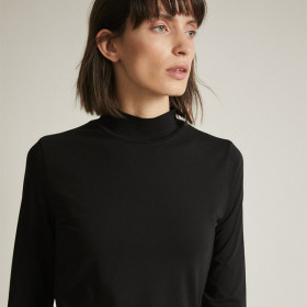 Turtleneck Bluse, Black, Lanius