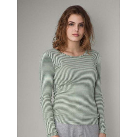 Slim Tee, Olive Strib, Serendipity Woman