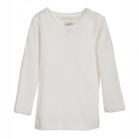Baby Tee, Offwhite Pointelle, Serendipity