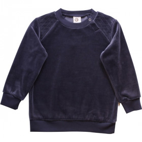 Velour Bluse, Midnight, Müsli