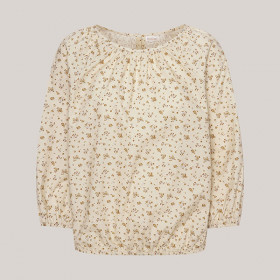 Meghan Blouse, Cream Flower, Odieé Woman