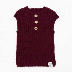 Alpaca Vest, Bordeaux, Mini Fabrik