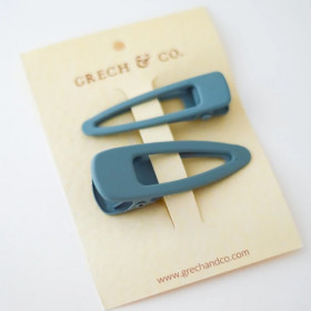 Hårclips 2 Pak. Light Blue, Grech & Co.