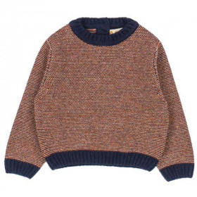 Sweater Maurice, Navy/Orange, Omibia