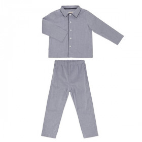 Pyjamas, Blue Herringbone, On Cloud Nine