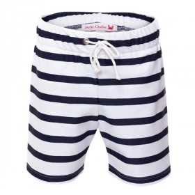 Korte Shorts Alex, White/Blue, Petit Crabe