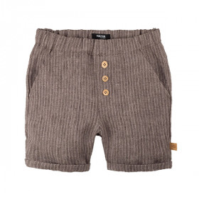 Baby Shorts, Brown Strib, Pure Pure