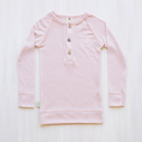 Merino Bluse, Rosa, Roots&Wings
