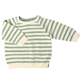 Stribet Bluse, Green Strib, Selana