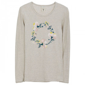 Powder Flower Tee, Wheat, Serendipity Woman