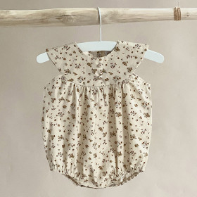 True Romper, Cream Flower, Odieé