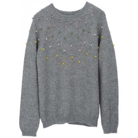 Llama Dot Sweater, Grå, Serendipity Woman