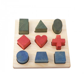 Shape Puzzle, Rainbow, Wooden Story